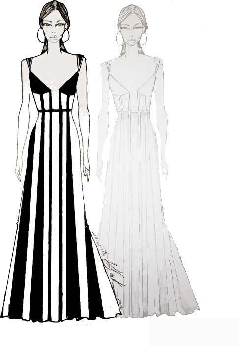 Project Runway All Stars Sketches - Sketches of Golden Globes Dresses