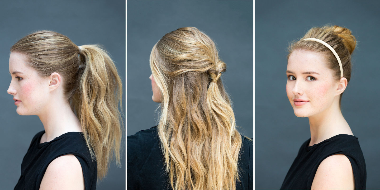Marvelous 10 Easy Hairstyles You Can Do In 10 Seconds Diy Hairstyles Hairstyles For Women Draintrainus