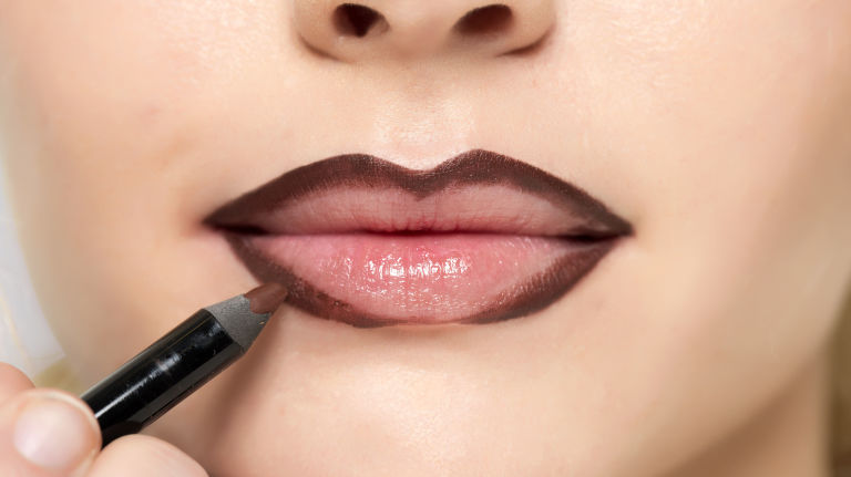 Αποτέλεσμα εικόνας για lip liner steps dark
