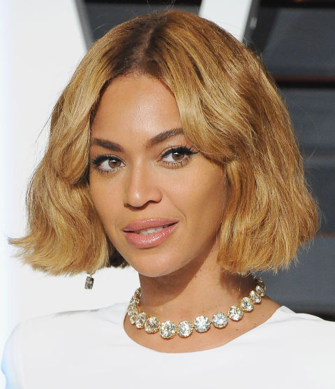 One of our favorite Bey looks yet. The blunt ends give this bob a cool-girl flair.