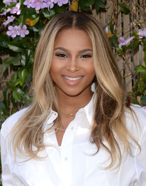 The singer gives her smooth-straight locks a subtle twist at the ends.