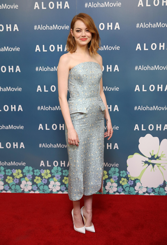 Emma stone dresses