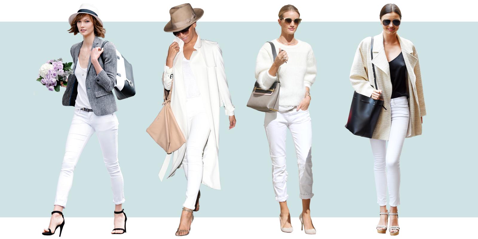 Celebrities in White Jeans - Celebrity Style White Denim