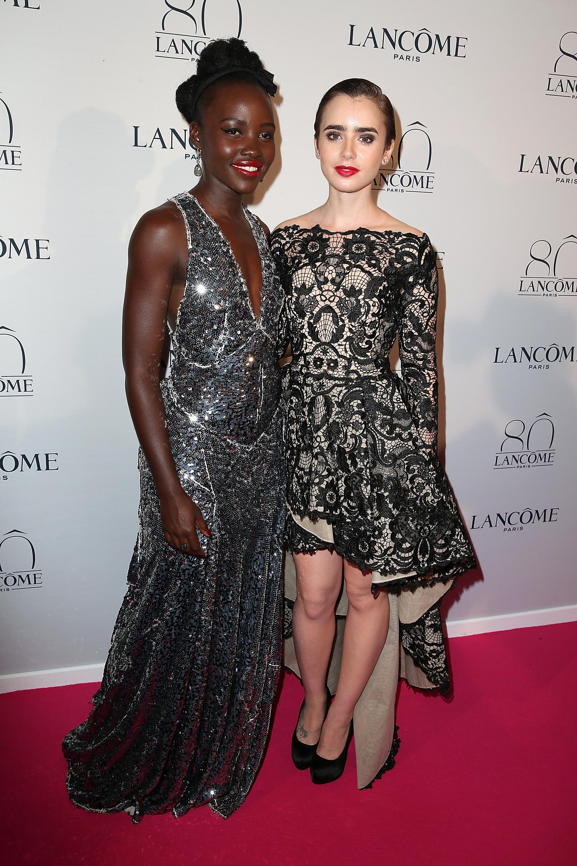 Lancome 80th anniversary red carpet fashion