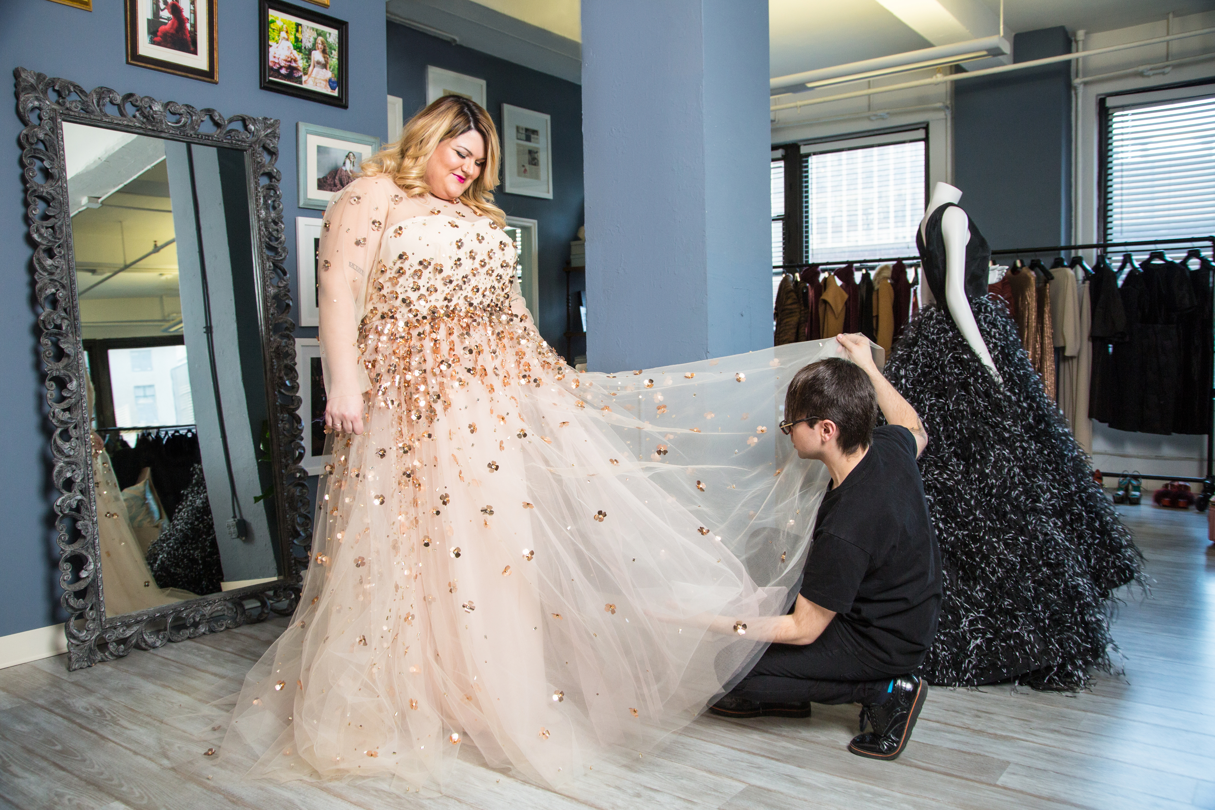 Inside Nicolette Mason 39 S Wedding Dress Fitting With