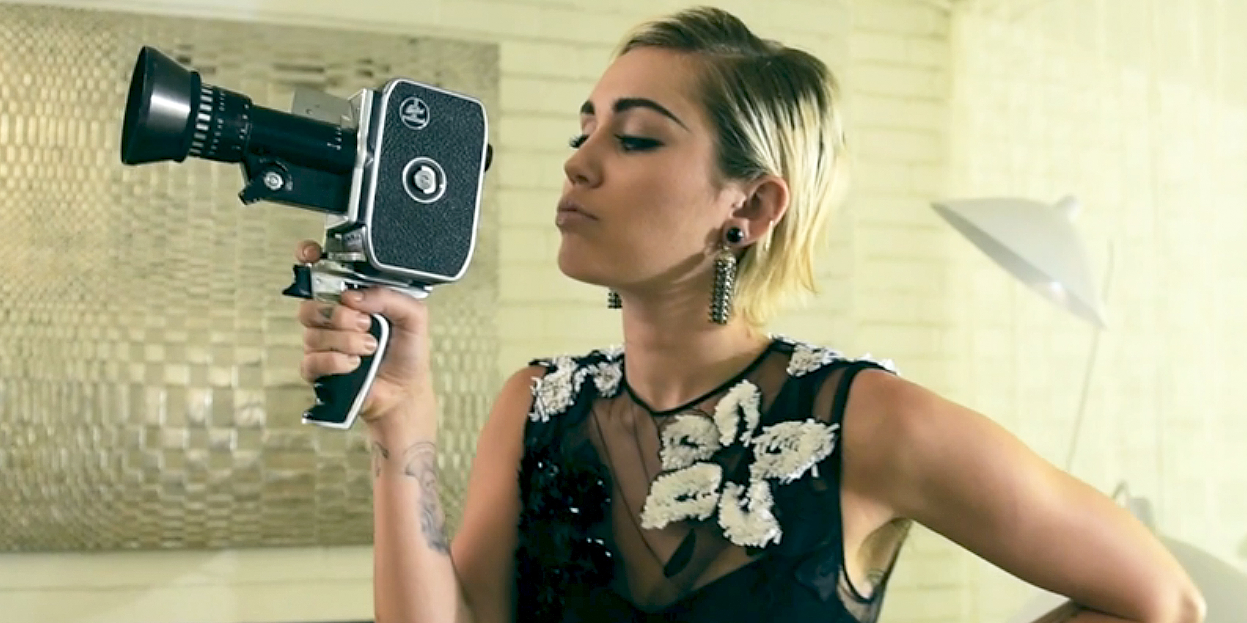 Miley Cyrus Video from Marie Claire Cover Shoot бритни спирс инстаграм