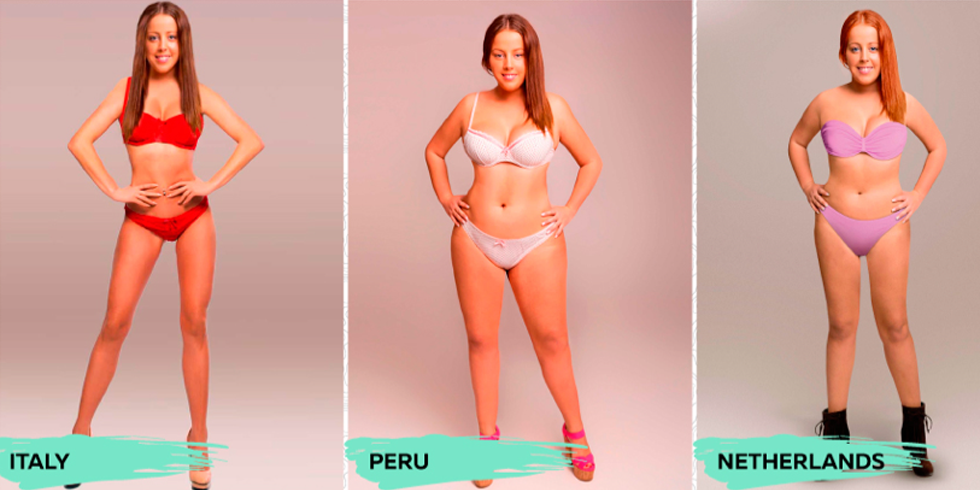 How One Woman S Body Was Photoshopped To Meet 18 Different