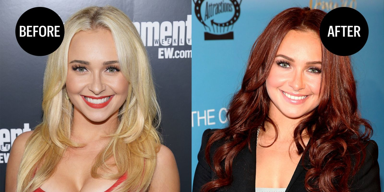 Celebrities Who Dyed Their Hair Red Red Hair Color Ideas
