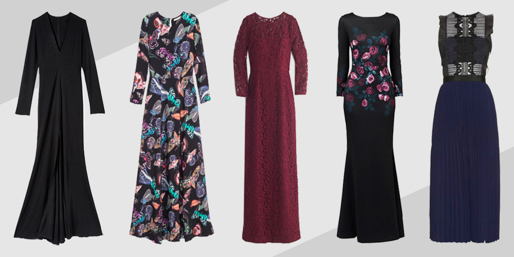 What to wear to a wedding in winter cold weather winter for Wedding guest dresses for cold weather