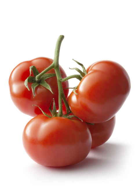 Tomatoes lose all their flavor in the fridge because the cold air stops the ripening process. Refrigeration also changes their texture.