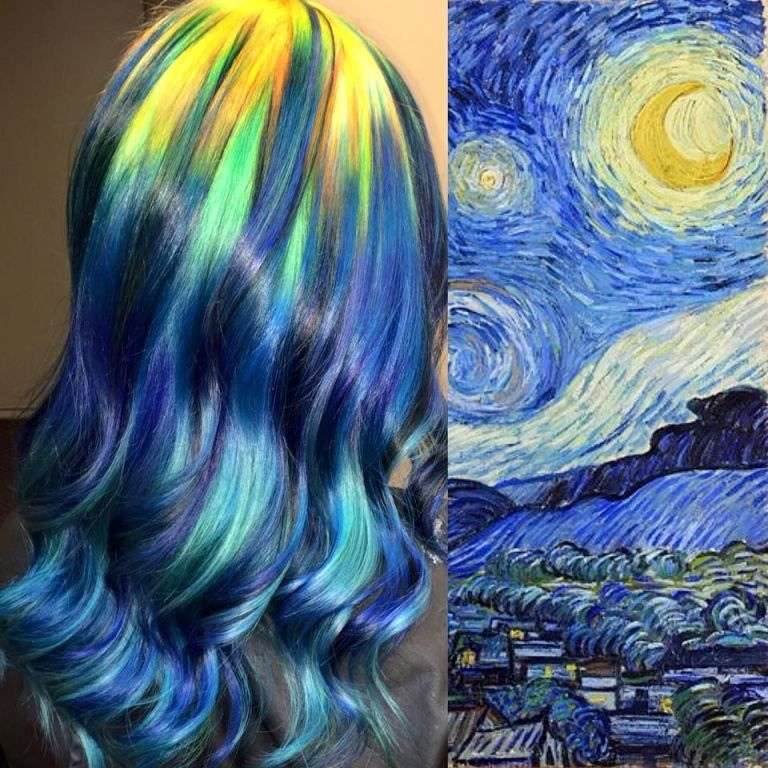 How to make hair dye with acrylic paint
