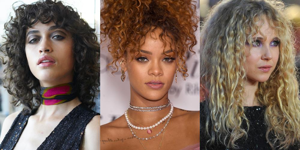Curly Hair Bangs Hairstyles