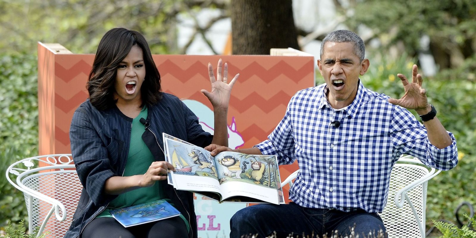 POTUS and FLOTUS read Where the Wild Things Are