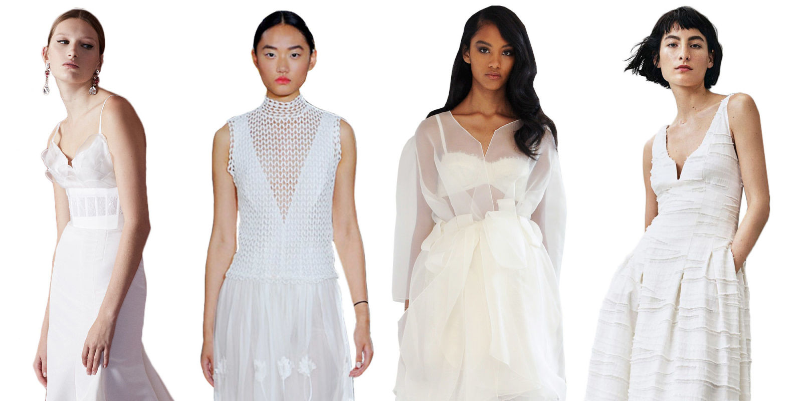 Women wearing wedding diapers - 13 Unique Wedding Dresses For 2016 Non Traditional Spring Wedding Dresses