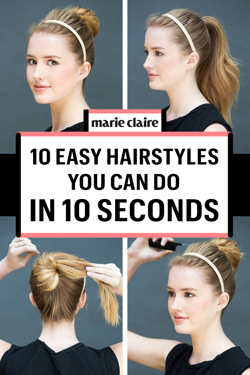 Surprising 10 Easy Hairstyles You Can Do In 10 Seconds Diy Hairstyles Hairstyles For Women Draintrainus