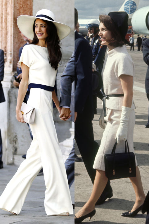 amal clooney and jackie kennedy style fashion similarities. Black Bedroom Furniture Sets. Home Design Ideas