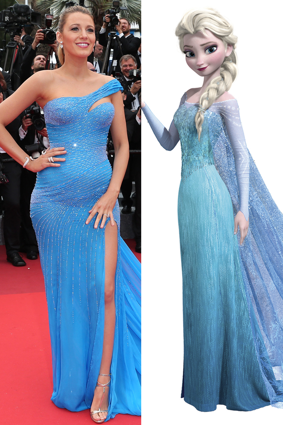 Celebrities Dressed Like Disney Princesses On The Red Carpet