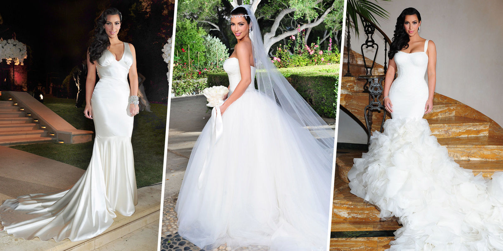 Celebrities who wore multiple wedding dresses celebrity for Celebrity wedding guest dresses