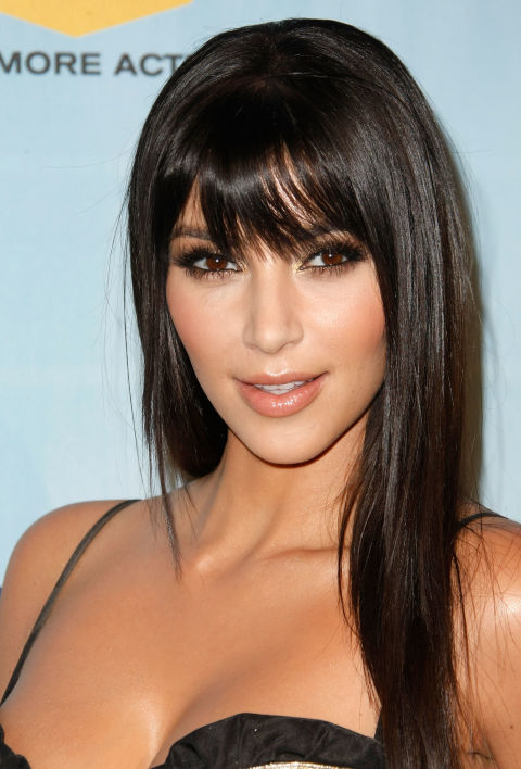Awesome 25 Long Hairstyles With Bangs Best Celebrity Long Hair With Short Hairstyles Gunalazisus