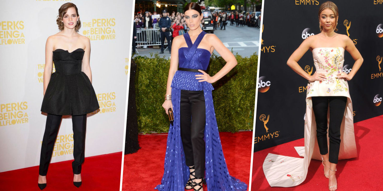Celebrity Dress Over Pants Trend How To Wear Dresses