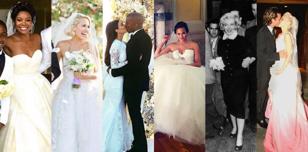 The 47 Best Celebrity Wedding Dresses - Wedding Gown Ideas from Stars