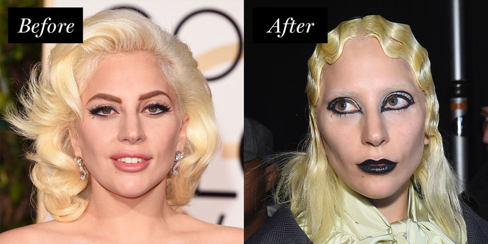 Celebrities with Bleached Brows - Bleach Brows Before and After