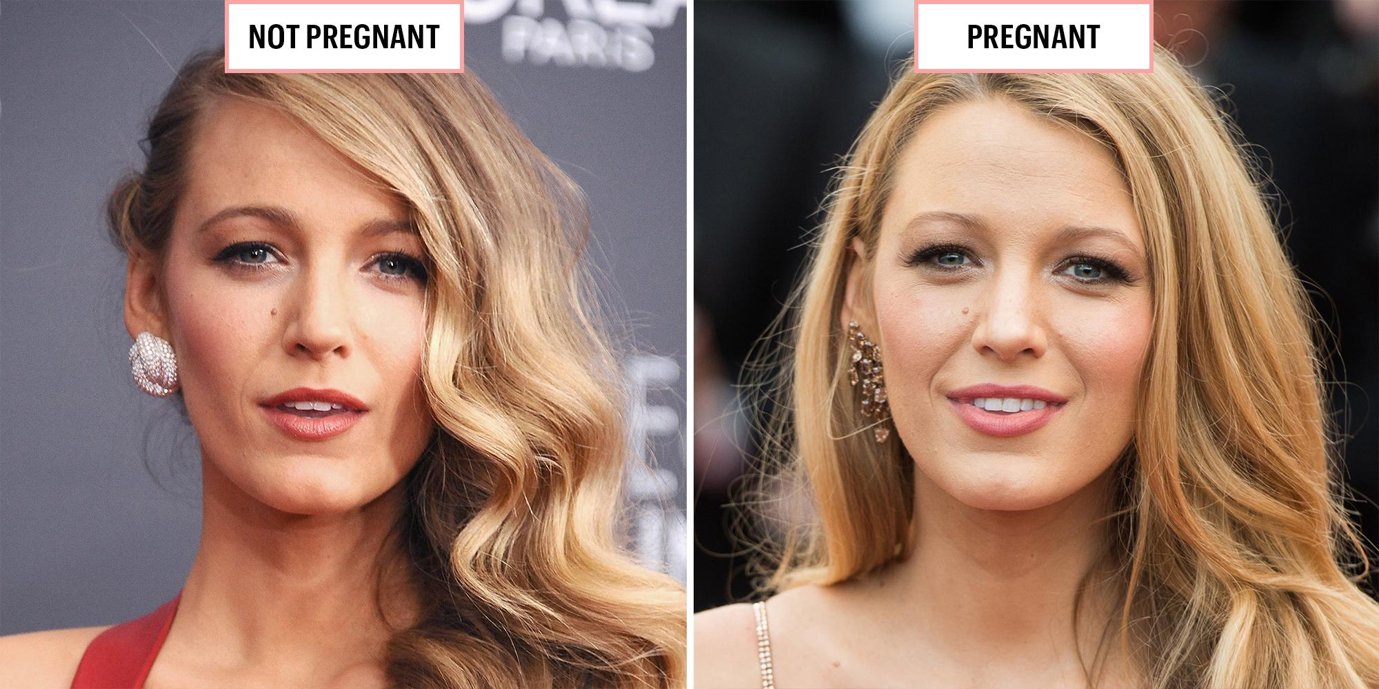 Celebrities When Pregnant Versus Not Pregnancy Glow Photos