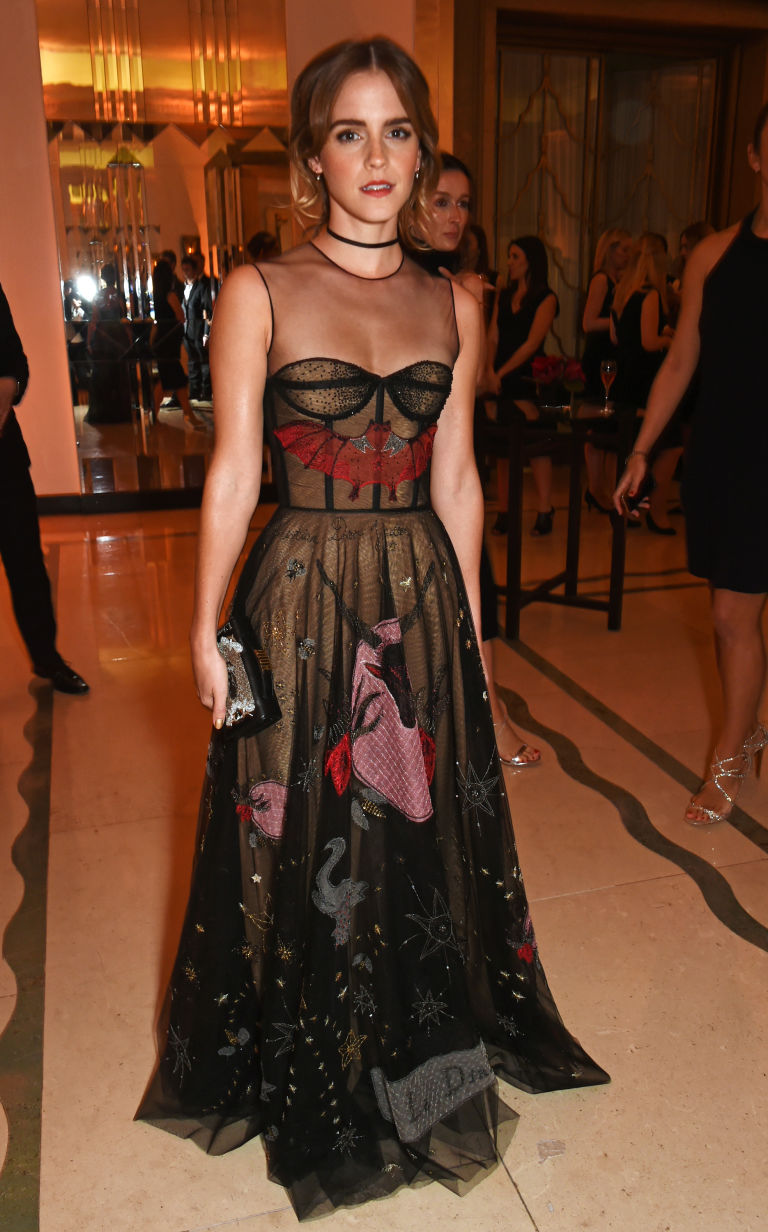 Emma Watson wore sheer, witchy ball gown for Halloween