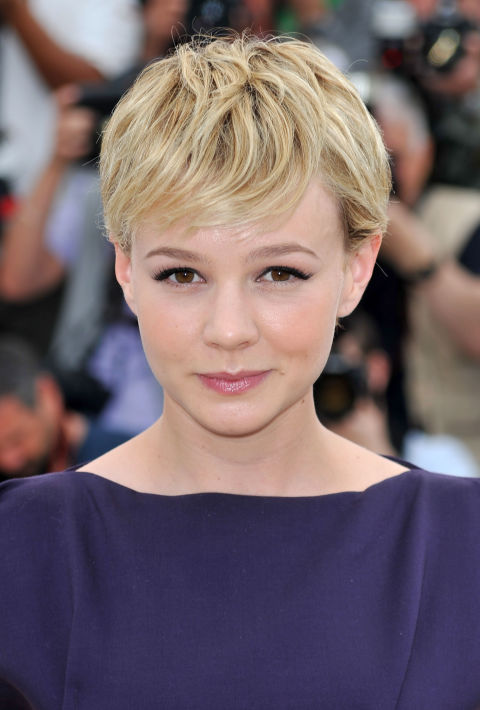 The star that made us all want to go out and request a pixie cut STAT keeps it interesting with plenty of layers and a wispy fringe.