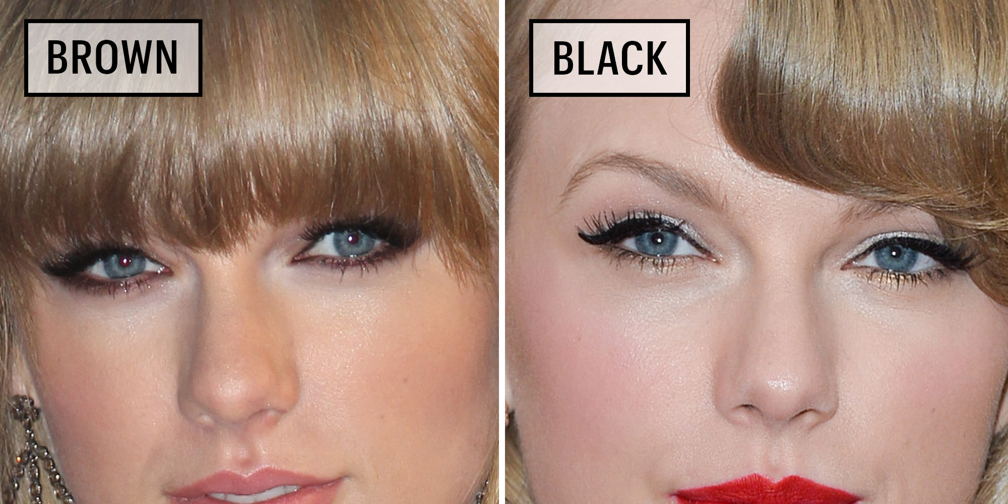 Celebrities Wearing Black Versus Brown Eyeliner Why You