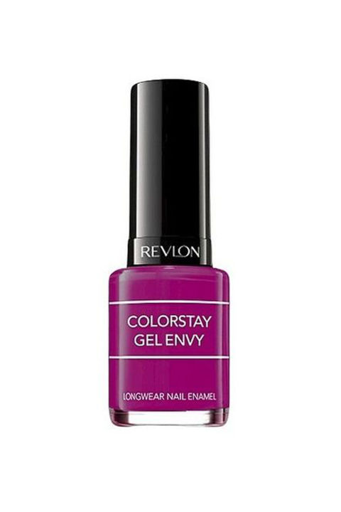 A deep berry number to remind you of frozen sorbet and fresh fruit.  Revlon ColorStay Gel Envy in 'Berry Treasure,' $5; target.com.