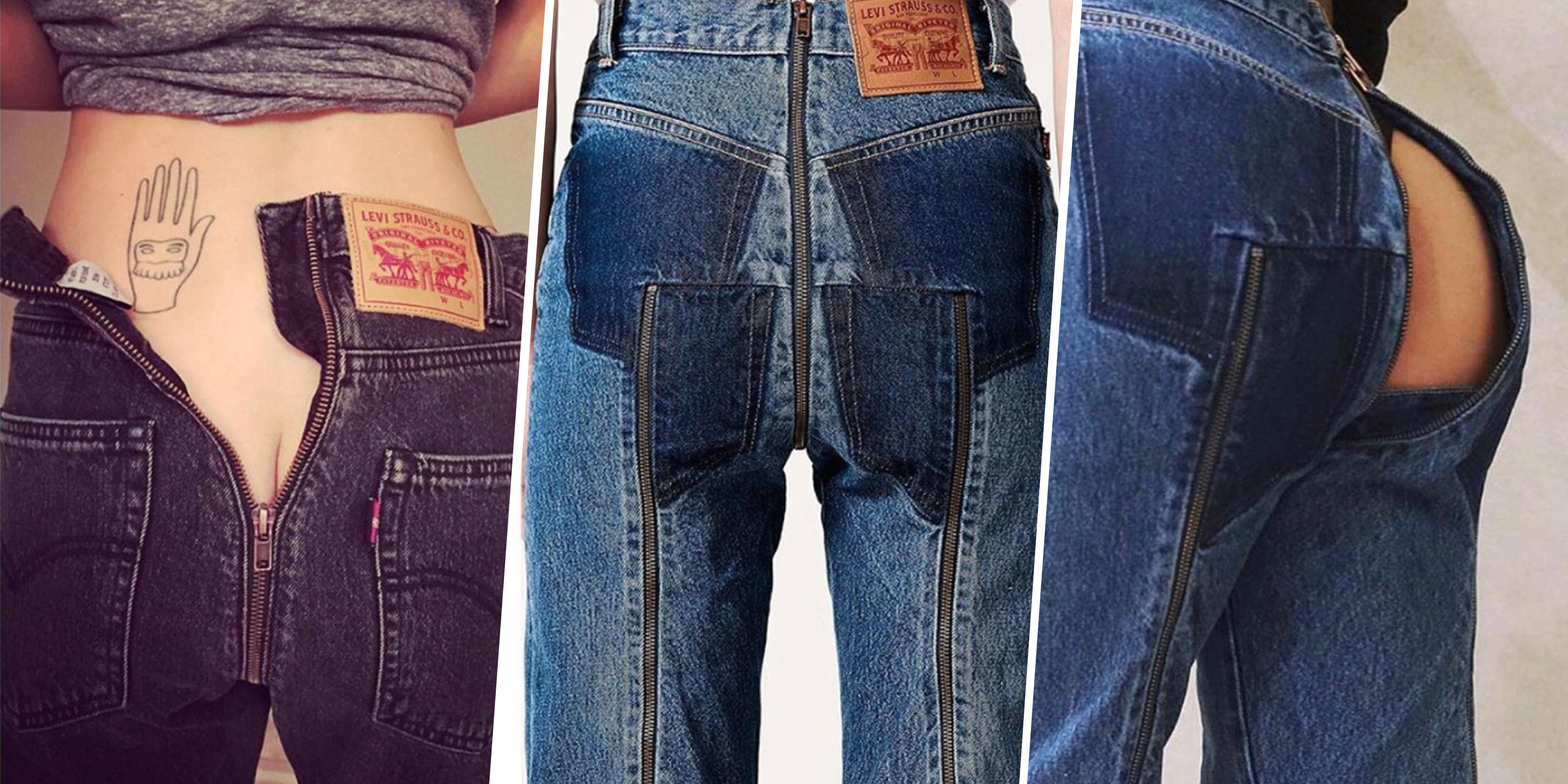 Vetements Bare Butt Jeans History Of Butt Less Pants