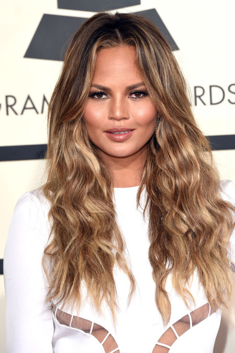 Layered Hairstyles layered haircut medium length Chrissy Teigens Waterfall Layers