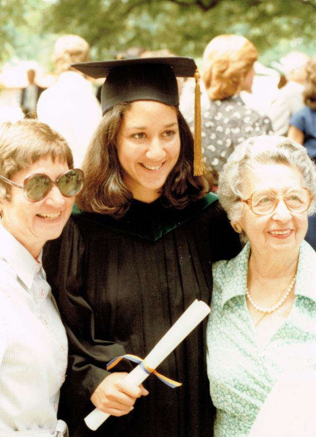 Dr. Imershein with her mother and grandmother at her graduation from Emory Medical School in 1980.