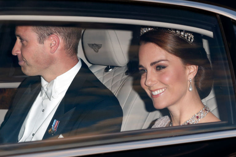 Duchess Kate wears Princess Diana's tiara at state banquet with Spanish royals
