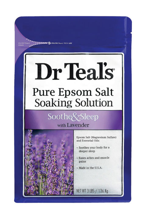 Pour two cups of these ultra-soothing, lavender-filled Epsom salts in with your next hot bath, take a deep breath, and count back from 1,165—which is the exact number of days until the next presidential election.Dr Teal's Epsom Salt Soaking SolutionSoothe & Sleep withLavender, $10BUY IT: amazon.com.