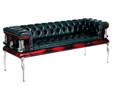 "<strong><a href=""http://coffincouches.com/"" target=""blank"">COFFIN COUCH</a></strong>, $3,500.<br /><br />Who wants to be reminded of their own mortality while vegging on the couch watching <i>Six Feet Under</i>?"