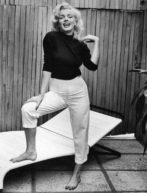 Marilyn Monroe en pantalons