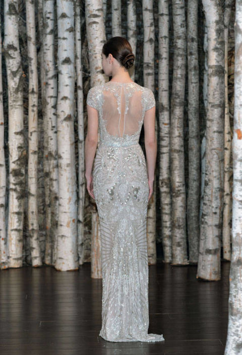 Bejeweled Gown with Sheer Back