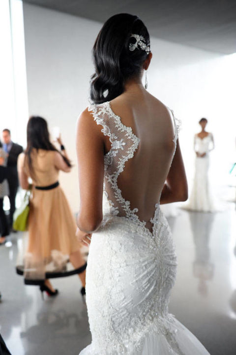 Open-Back Mermaid Gown