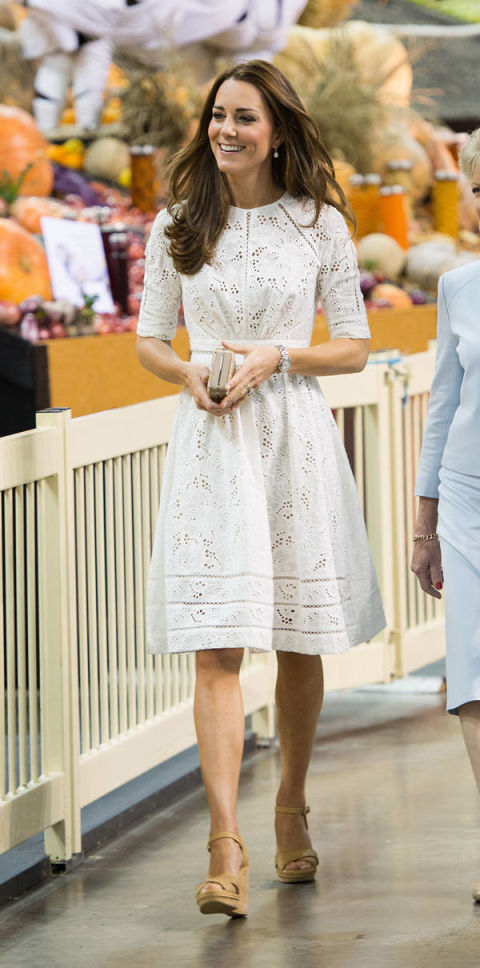 Kate Middleton Inspired Dress Kate Middleton White Eyelet Dress