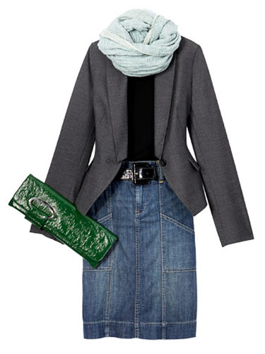 Jean Skirts and Blazers - Fashion Deals