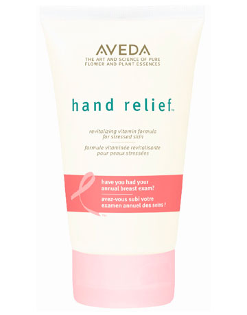 AVEDA HAND RELIEF, $20. A rich hand creme that helps soften and smooth hands while diminishing the visible signs of aging, Hand Relief has remained an Aveda top seller since its launch in 1998. $4 from each sale benefits the Breast Cancer Research Foundation. Available at aveda.com.