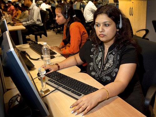 Photos of Indian Call Centers