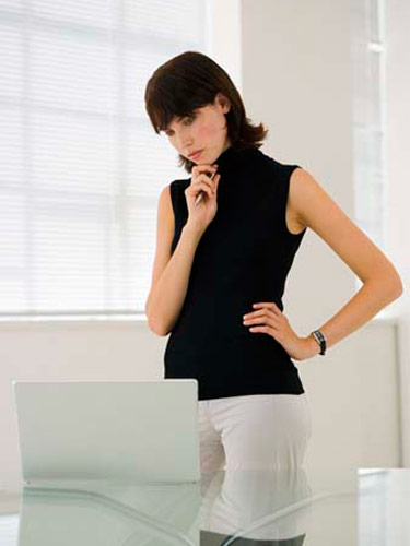 woman in front of a computer Marie Claire