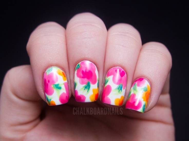 Excellent Nail Polish Science Project Small Walmart Essie Nail Polish Regular Nail Polishes For Sale Finger Nail Art Designs Young Easy Nails Art OrangeKiko Nail Polish 30 Best Spring Floral Nail Art Ideas   Flower Nail Art Manicures