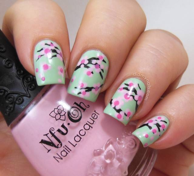 30 best spring floral nail art ideas flower nail art for How to come up with painting ideas