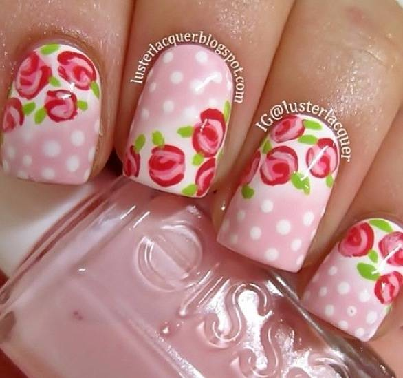 Floral Manicures For Spring And: 30 Best Spring Floral Nail Art Ideas