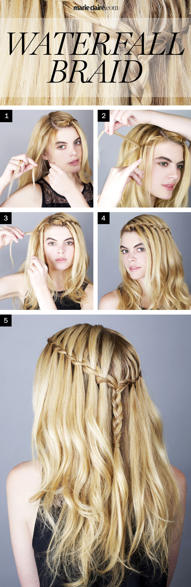 Stupendous How To Do A Waterfall Braid Easy Waterfall Braid Tutorial Hairstyles For Women Draintrainus