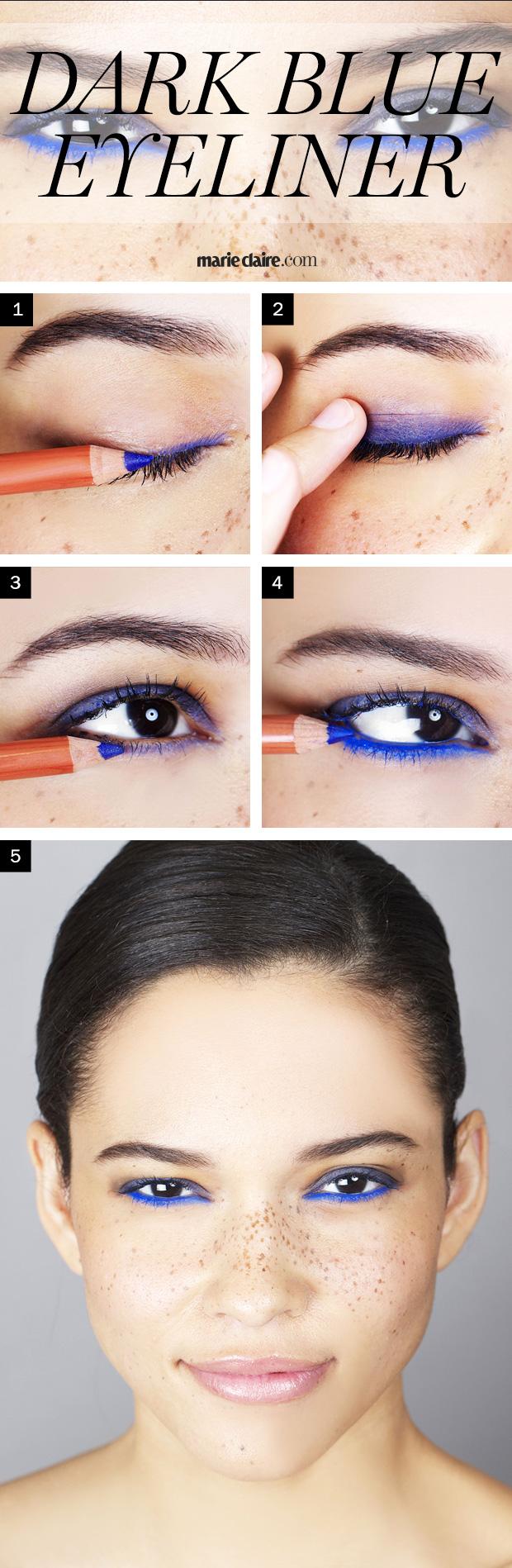 Makeup How-To: Dark Blue Eyeliner